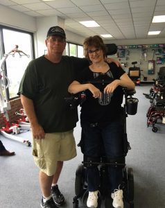 Standing Wheelchair Customer