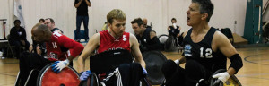 Wheelchair Rugby Game at the Gym