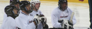 Hockey practice.
