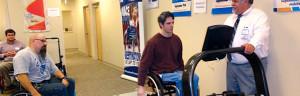 Treadmill equipment test.