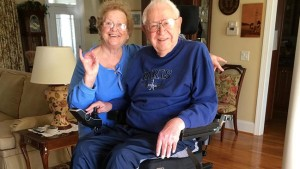 Couple at their adaptive home.