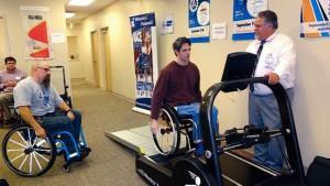 Equipment testing on treadmill